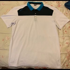 White/Navy/Blue Ping Golf Polo Shirt